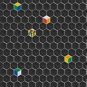 Can You Solve It? || puzzle 80s nerd geek geometric hexagon game retro vintage