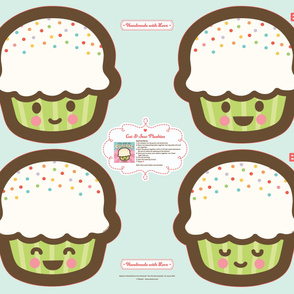"Cut-&-Sew Plushie: 14"" Cupcake"