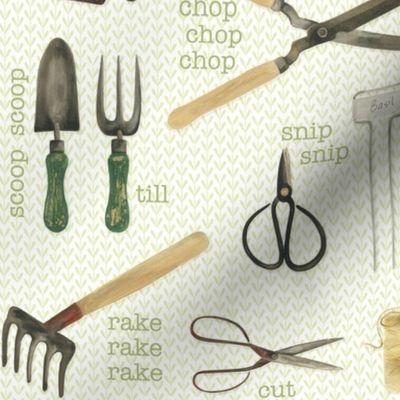 Gardening Tools Spoonflower