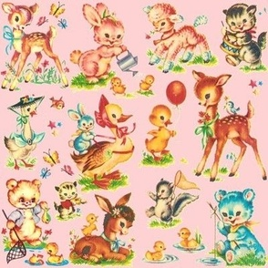 Favorite PINK vintage Baby Animals Paris Bebe