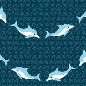 01945320 : dolphin waves