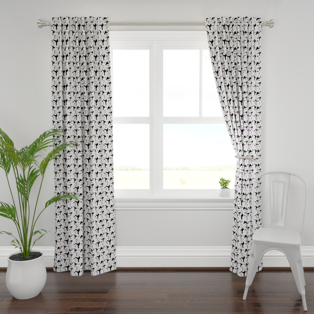 Plymouth Curtain Panel featuring taekwondo large print by dsa_designs