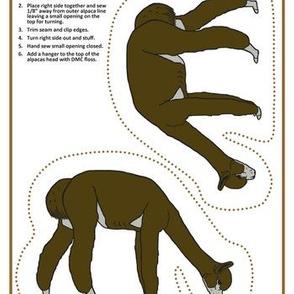 Brown Alpaca Grazing Cut and Sew