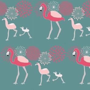 Flamingo Family 2