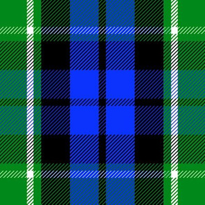 "Graham of Menteith district tartan, 9"" modern colors"