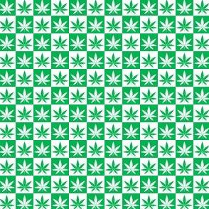 Hemp Leaf Checkerboard- small
