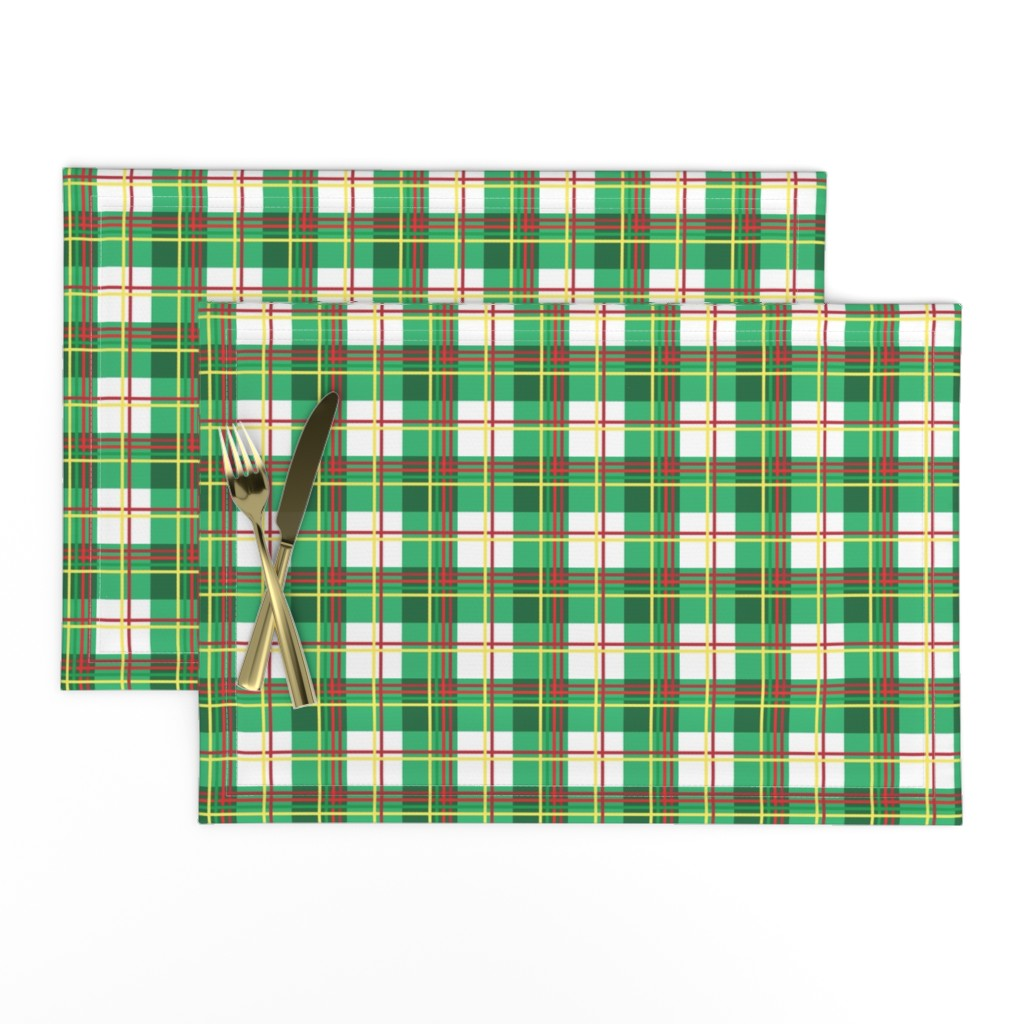 Lamona Cloth Placemats featuring Bunny Plaid by knittingand