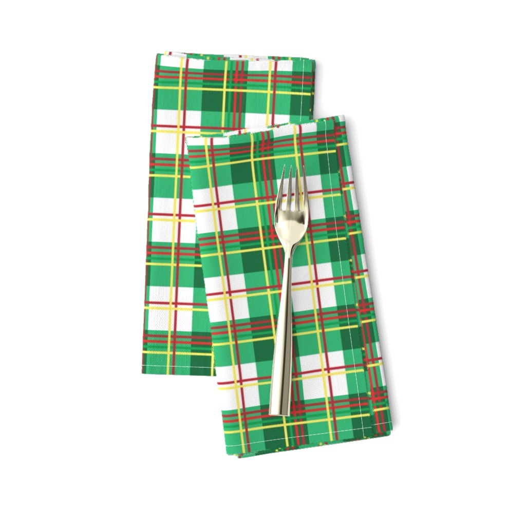 Amarela Dinner Napkins featuring Bunny Plaid by knittingand