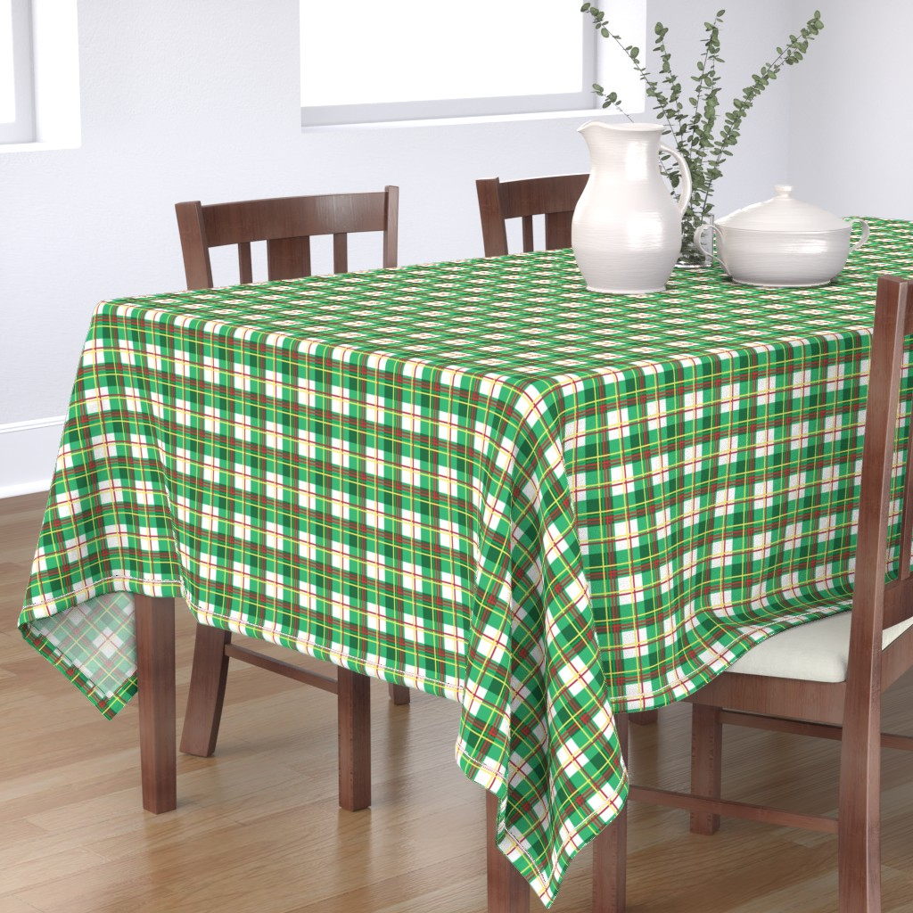 Bantam Rectangular Tablecloth featuring Bunny Plaid by knittingand