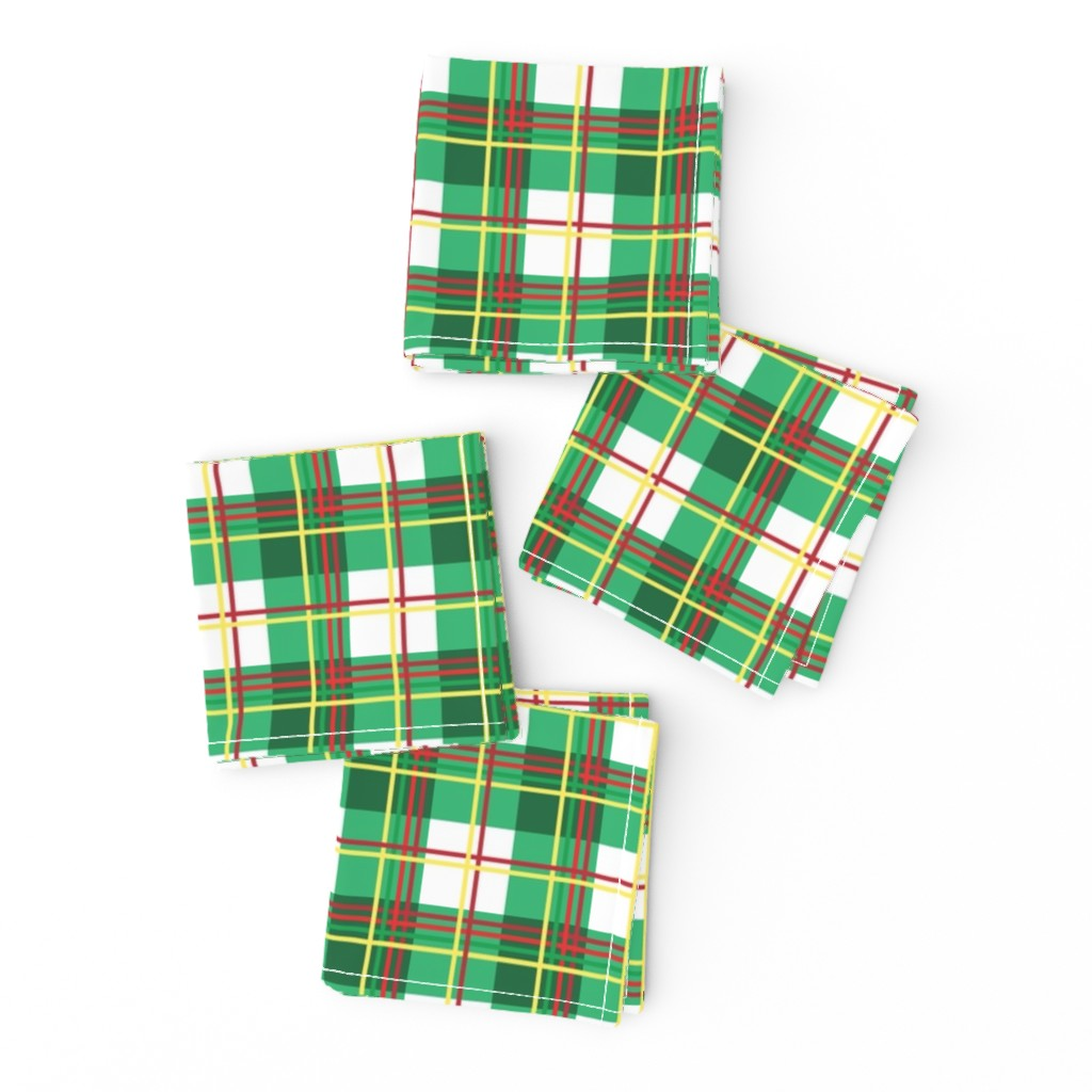 Frizzle Cocktail Napkins featuring Bunny Plaid by knittingand