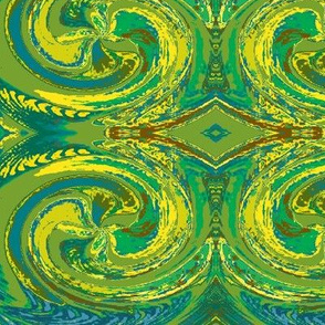 Abstract5-warm green