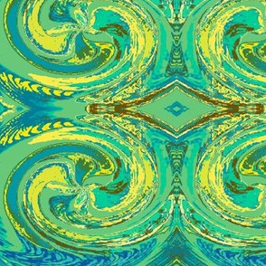 Abstract5-cool green