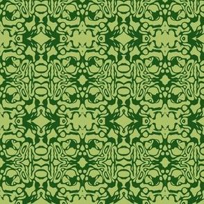Green Swirl Batik