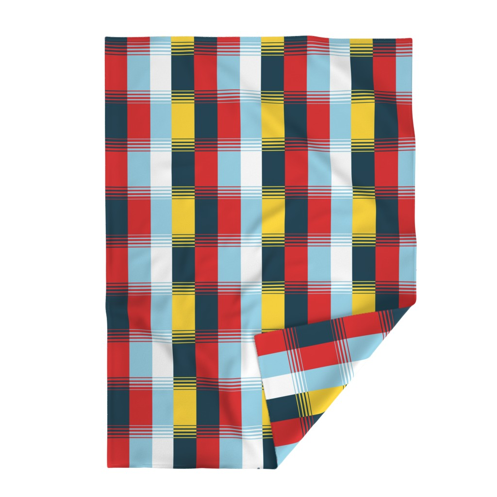 Lakenvelder Throw Blanket featuring Bold Blocks Blanket Design by elramsay