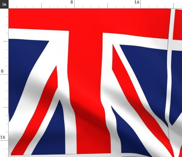 Stoff Meterware London Flagge Union Jack England Jack Union