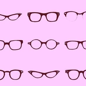 Retro Glasses Frames in lilac