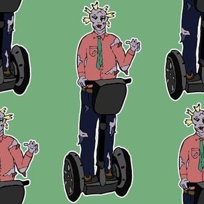 Zombie man on segway
