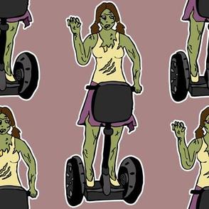 Zombie girl on segway
