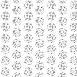 White and black floral circles