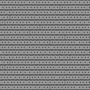 Robot Binary (Gray & White)