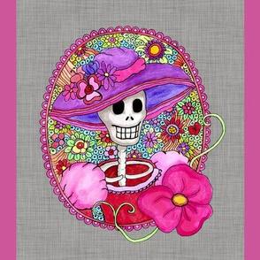 Mexican Skull Illustration