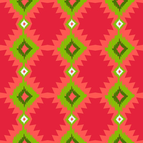 Tribal Watermelon Ikat