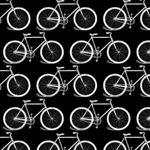 Antique Bicycles in Black and White (large version)