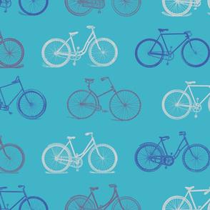 Vintage Blue Bicycles