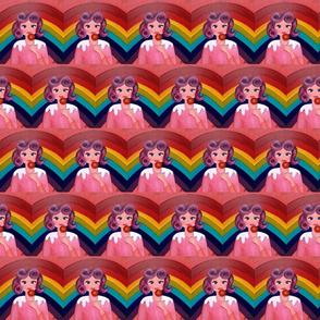 Lola in a sweet rainbow