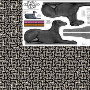 greyhound cut and sew fabric panels - links to listings