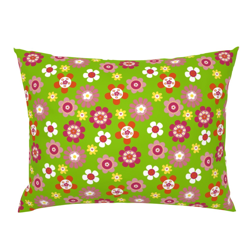 Campine Pillow Sham featuring Flowerpower by design_by_kolle