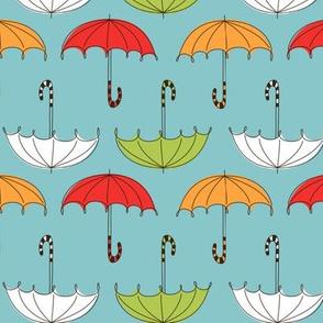 PA117 Umbrellas Blue