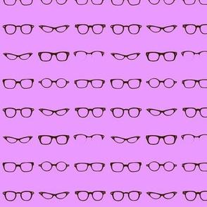 Retro Glasses Frames in Purple - small