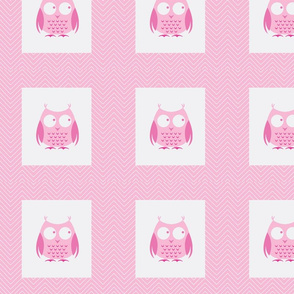 chevron_pink owl cheater quilt
