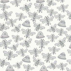Bees & Beehives, Grey