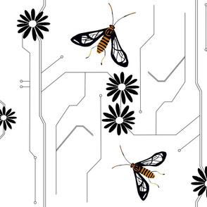 Wasp moth design