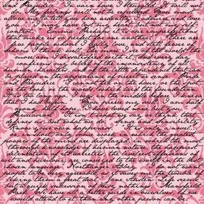Pink Dawn ~ Jane Austen Damask