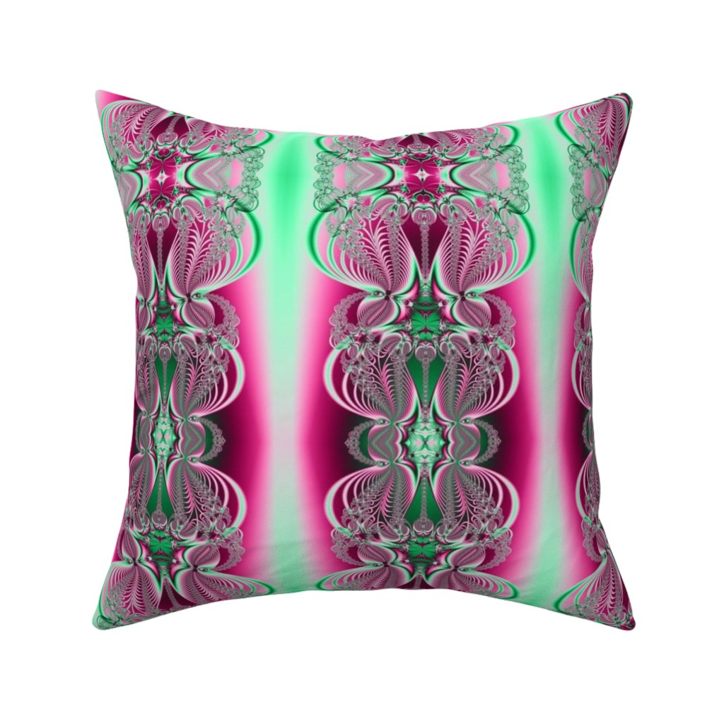 Catalan Throw Pillow featuring Fractal: Fantastical Feathers by artist4god