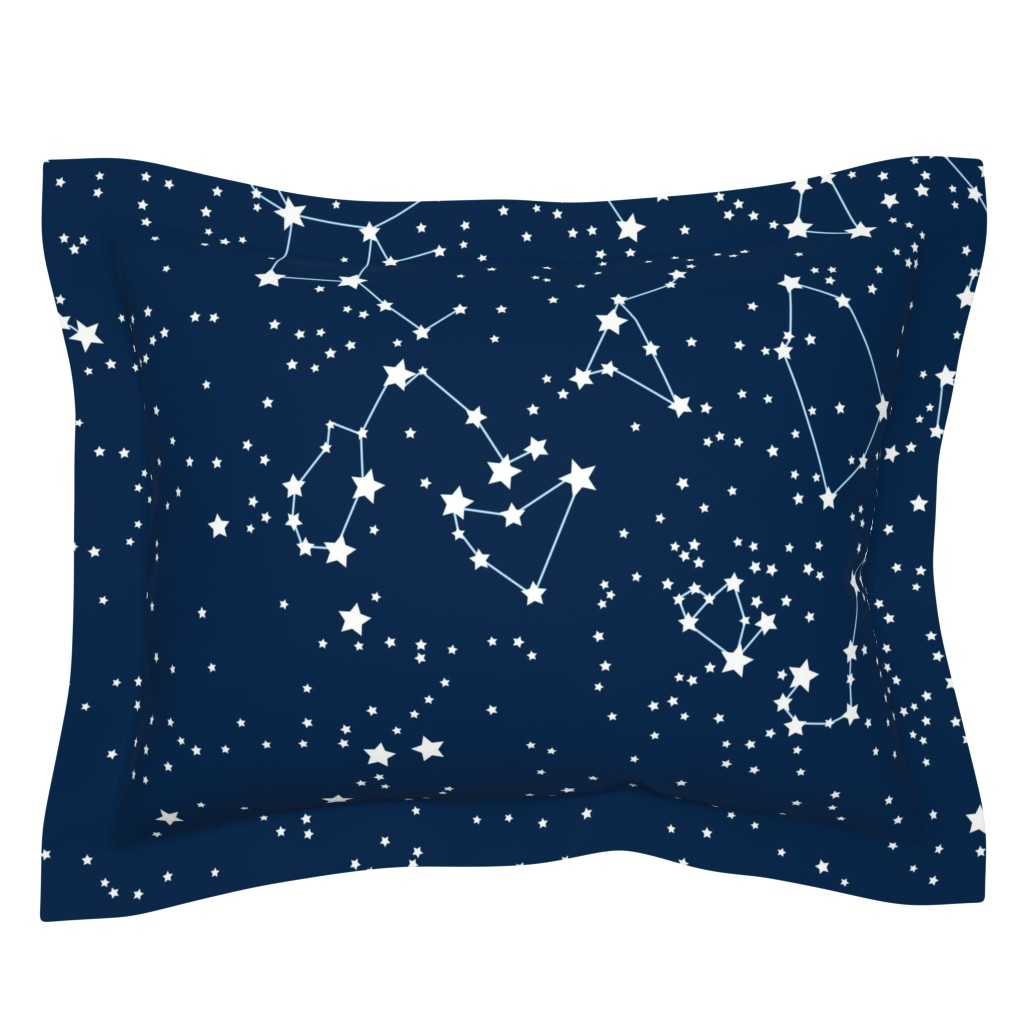 """Sebright Pillow Sham featuring """"Map"""" of our sky (large scale) by mariao"""