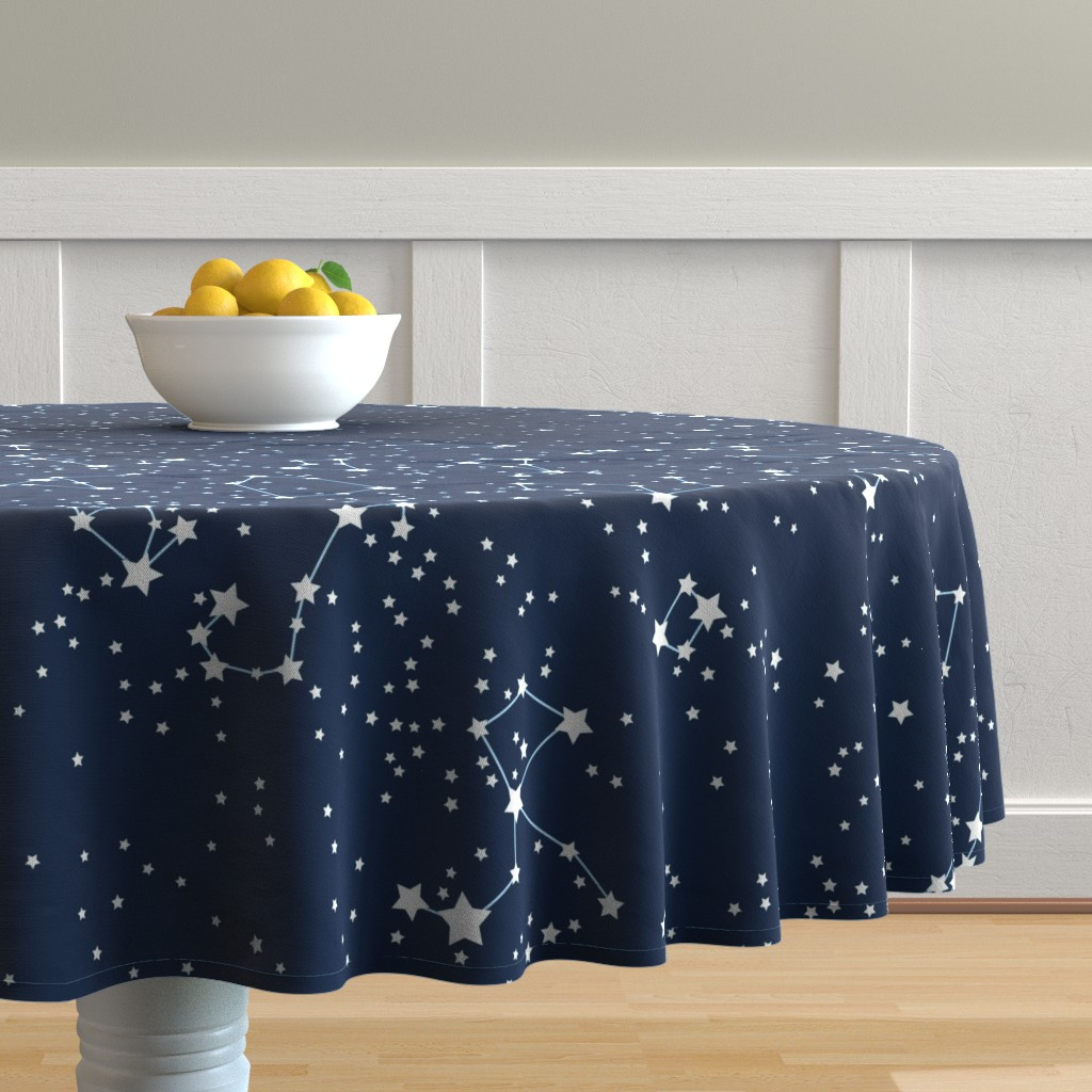 "Malay Round Tablecloth featuring ""Map"" of our sky (large scale) by mariao"