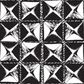 studs black and white