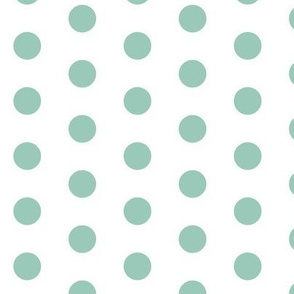 Teal Dots on White