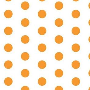 Orange Dots on White