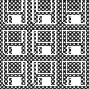 Cross stitch floppy disk