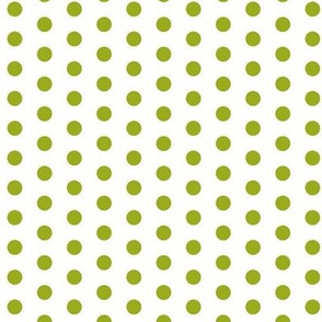 Small Green Dots on White