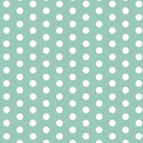 Small White Dots on Teal
