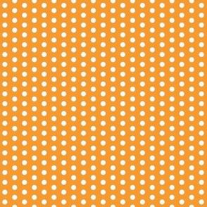 Tiny White Dots on Orange