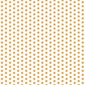 Tiny Orange Dots on White