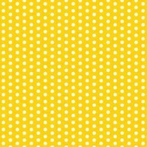 Tiny Whites Dots on Yellow
