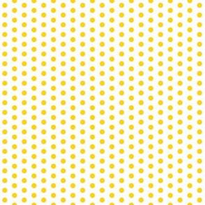 Tiny Yellow Dots on White